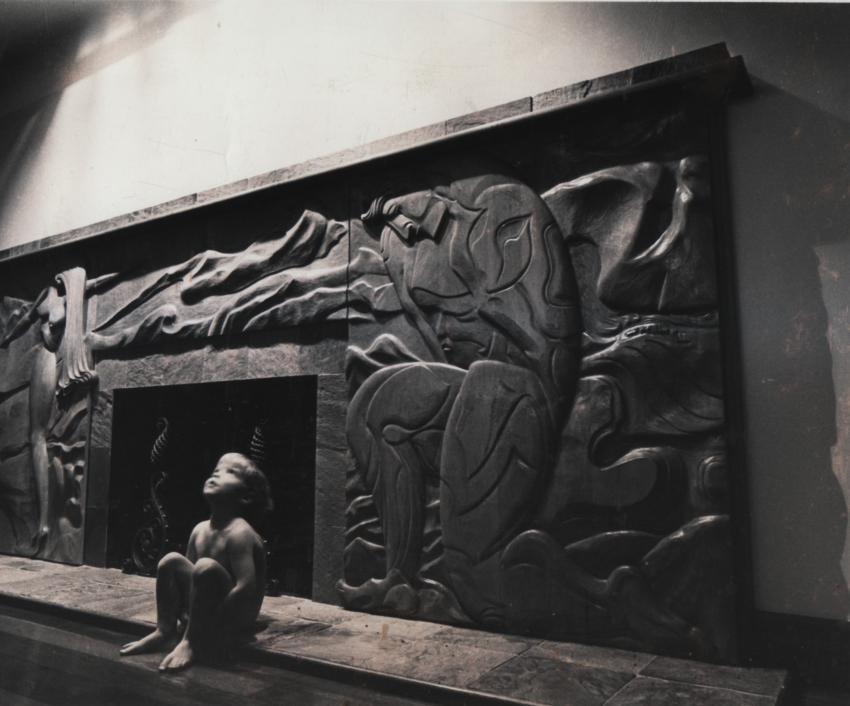 Art Deco Fireplace Surround Bas Relief