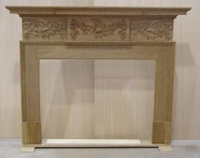 English Brown Oak Fireplace Surrounds