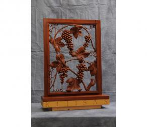 Mahogany Grapevine Themed Screen