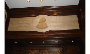 Mahogany Memorial Bas Relief