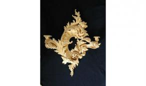 Wall Sconce in Basswood